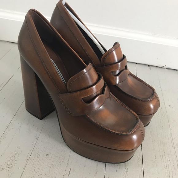 New Prada Platform Loafers High Heels